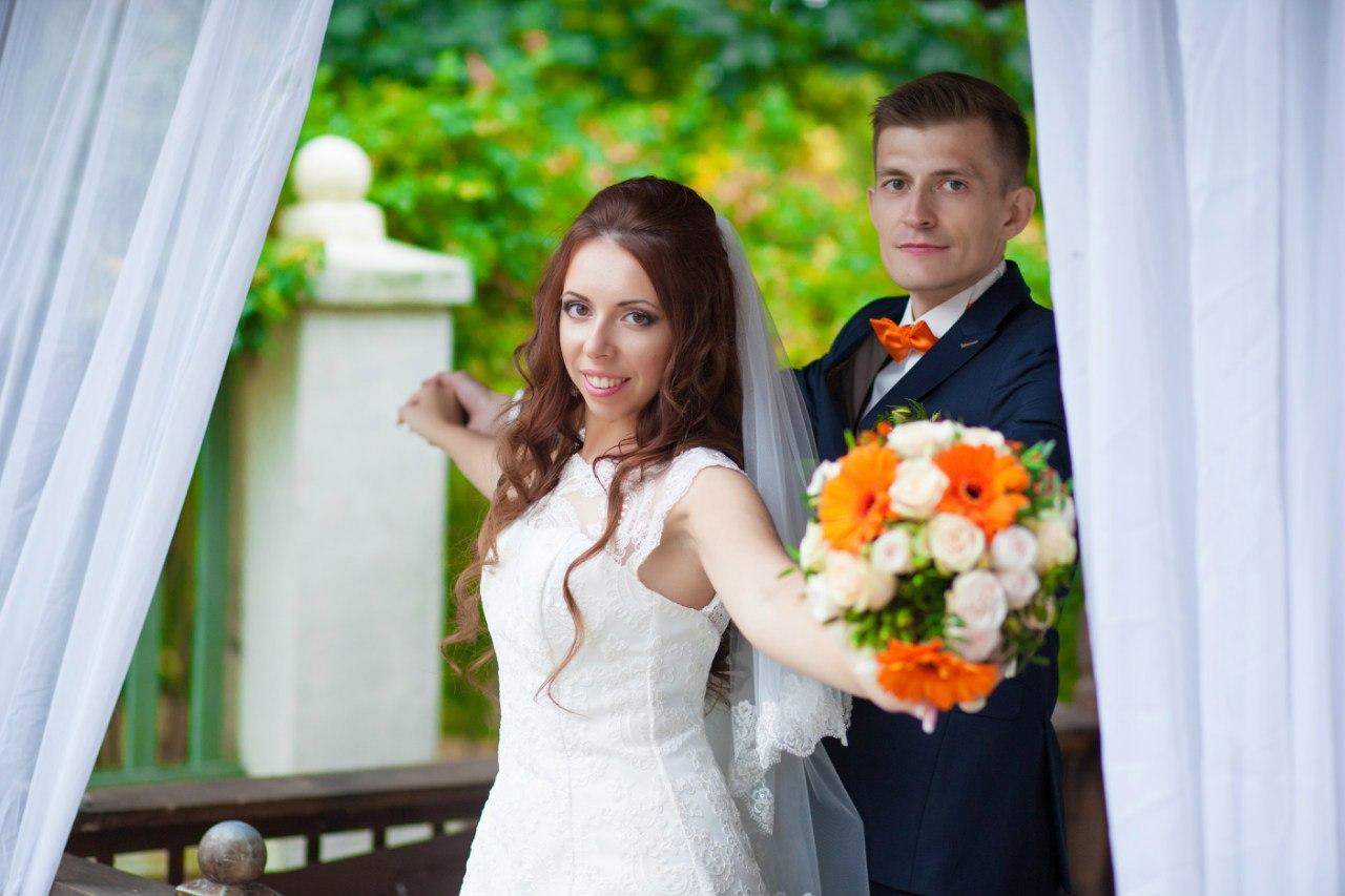 оранжевая свадьба фотограф Марина Праздничная свадебное фото