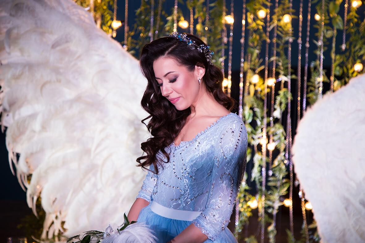 Свадебный фотограф Киев Марина Праздничная вечерняя свадебная церемония на берегу Днепра