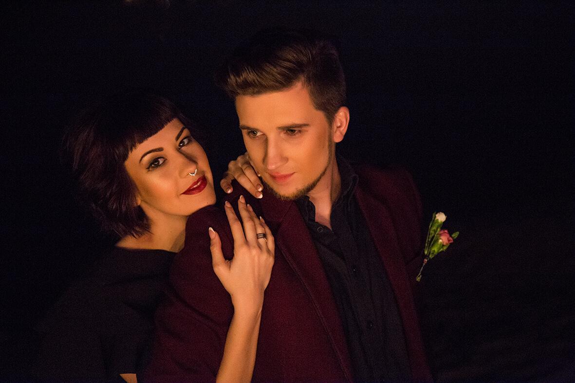вечерняя свадебная фотосессия вечерний днепр вечерний киев фотограф на свадьбу Марина