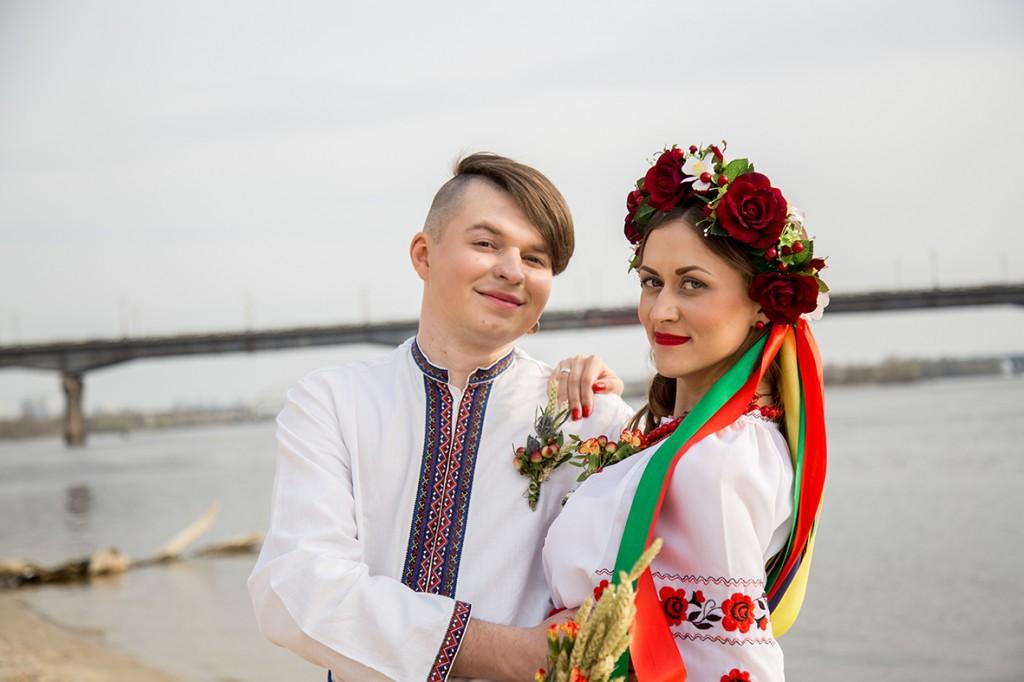 фотосессия свадьбы в украинском стиле