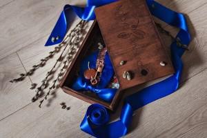 Коробочка для фото, флешки, диска для свадебного материала