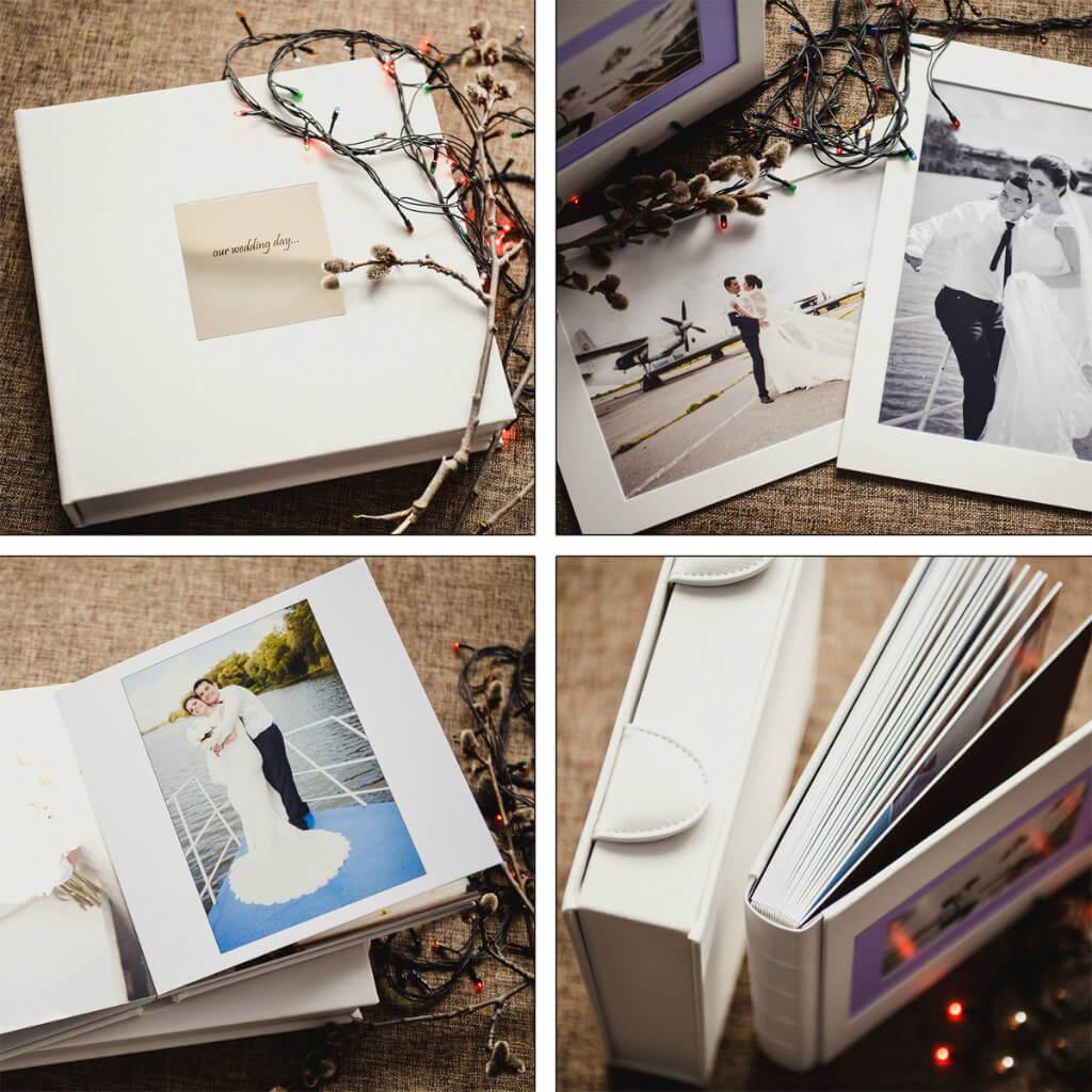 белая фотокнига детская семейная свадебная заказать недорого Киев фотопаспарту