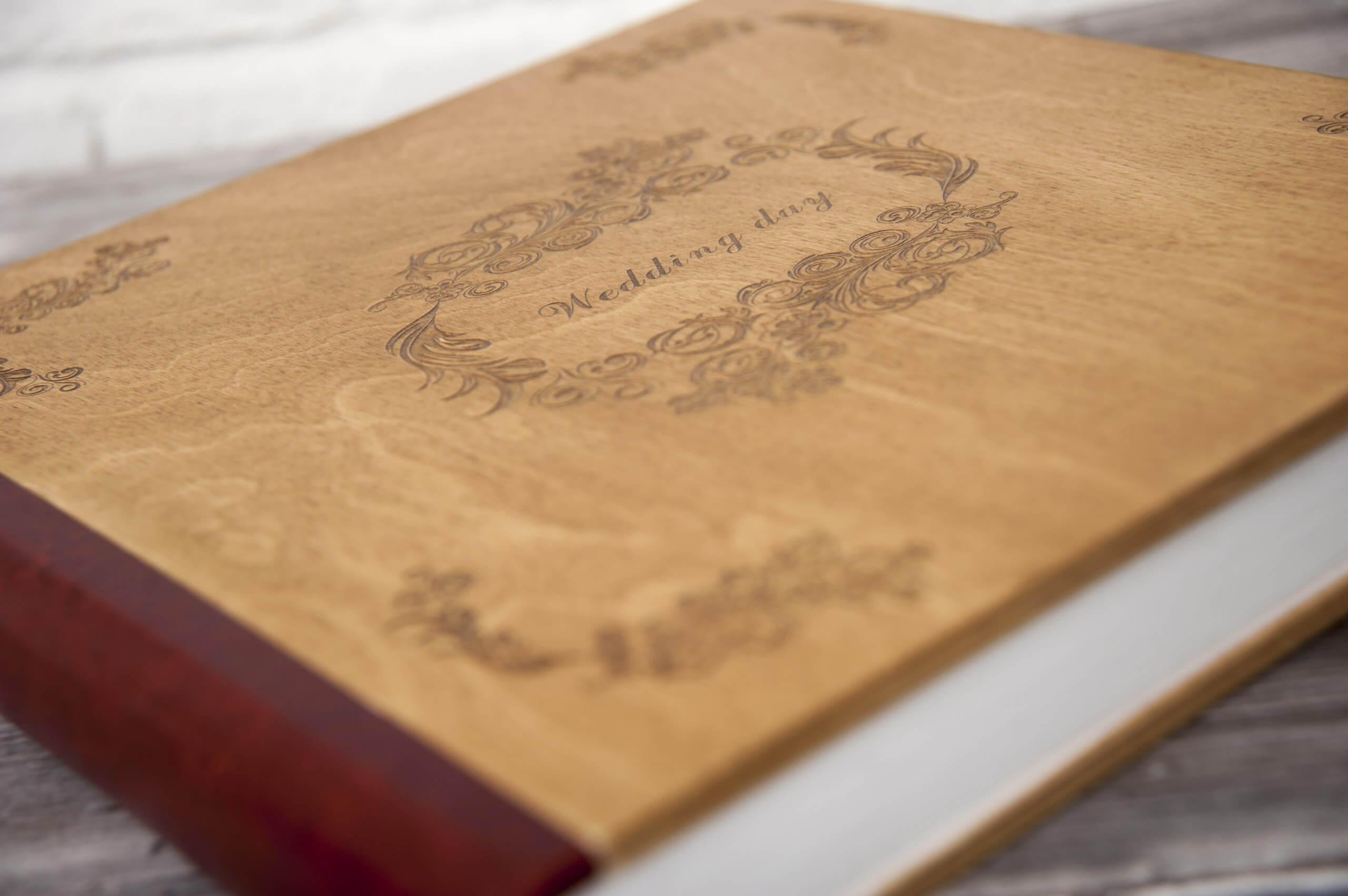 деревянная обложка фотокнига фотоальбом заказать