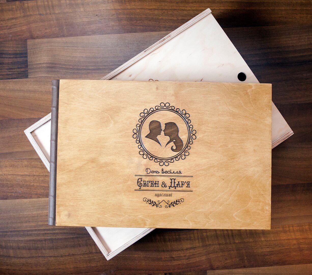 деревянная фотокнига обложка фотоальбом заказать Киев