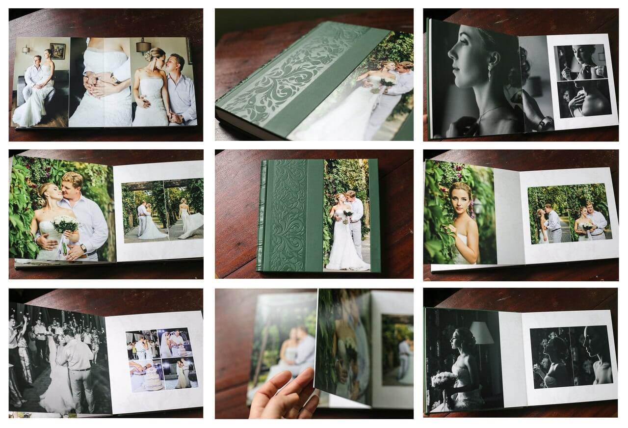 зеленая кожанная кожзам книга фотоальбо фотокнига киев заказать фотокнигу недорого цена