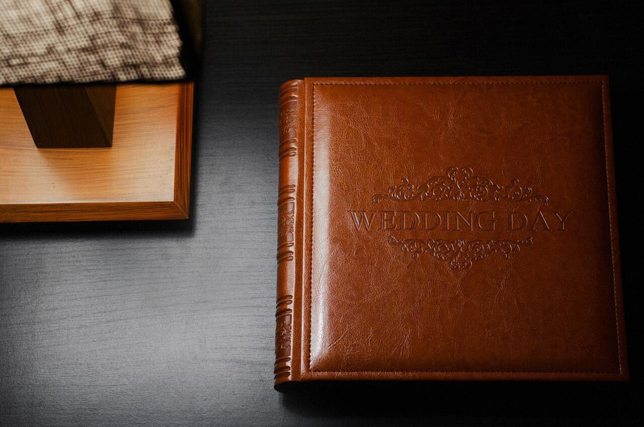 кожанная фотокнига фотоальбом (