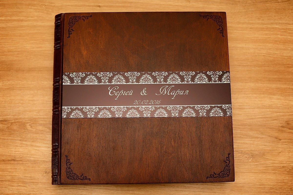свадебный фотоальбом деревянный заказать