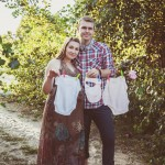 фотосессия беременной с мужем на природе улице фотограф Киев для беременной