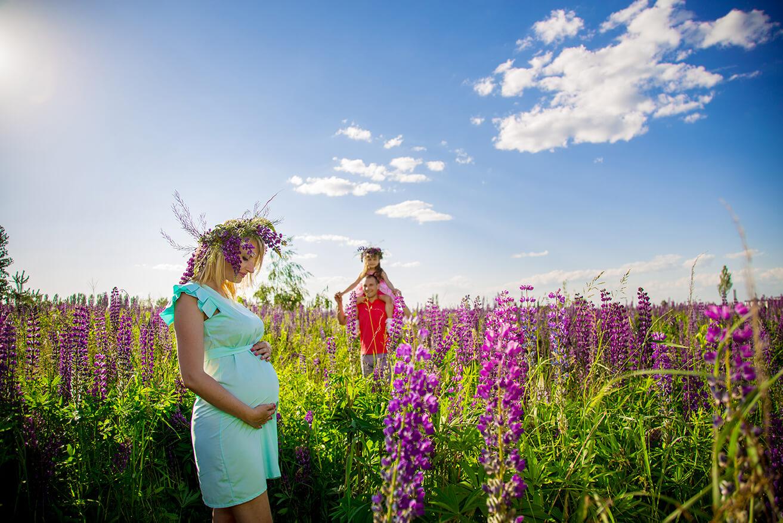 фото беременых в подсолнухах